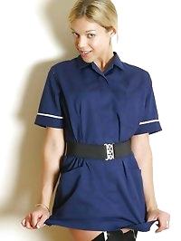 Belle in nurse uniform