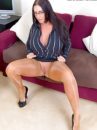 Gorgeous Stacked Secretary Emma Butt Spreads in Skin Tone..