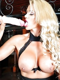 Dirty blonde barmaid Lucy Zara makes plenty of tips..