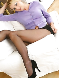 This saucy secretary Nikki F slowly escapes from her..