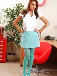Sammie in sexy stockings & shirt