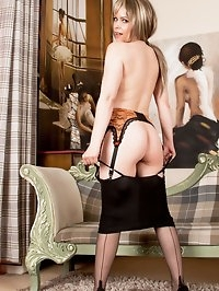 Anna loves vintage and really gets off stripping out of..