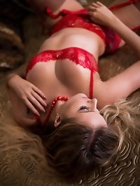 Yasmin goes to her bedroom under candle light, slips onto..