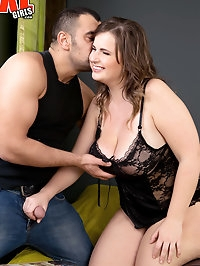 Big Tits Out & Stockinged Legs Spread