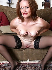 Tall willowy mom Camille Johnson is an American babe with..
