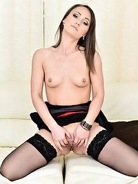 Slim shortie Angel Karyna is a European mom with a body..