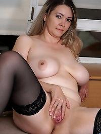 Anastasiya is a thick mom with a curvy body and huge..