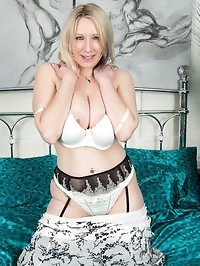 Buxom UK babe Mel Harper is a hot housewife who loves to..