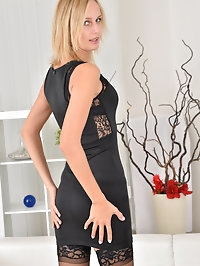 Looking hot as hell in a sheath dress, 27 year old Jenny..