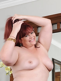 Curvy mature Marcy Diamond shows those big soft titties as..