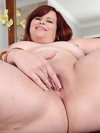 Curvy mature Marcy Diamond shows those big soft titties as..