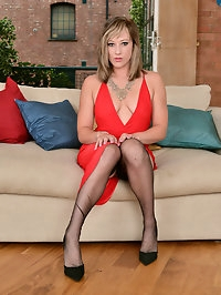 Gorgeous Axajay in a sexy red dress