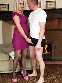 Hot and horny British Milf Sookie jumps on a big, hard cock