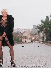 Outdoor photoshooting with exhibitionist girl Silvia Saint