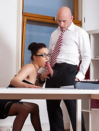 Big time political bosses have sex with staff in the office