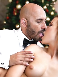 Christmas Time Cums Early For Nasty Blonde Alexis Crystal