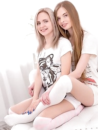 Herda Wisky and Adel Bye, horny teenagers in a threesome