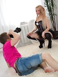 Angels photoshoot turns into an anal sex adventure