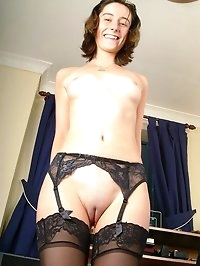 Slut secretary Gina playing with her dildo at work