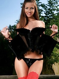 Eufrat removes her top, then her thong and poses in just..