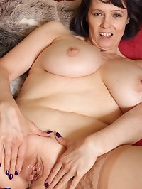 Big breasted mature Tigger playing with herself