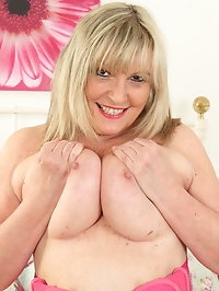 Curvy big breasted housewife getting very naughty