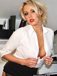 Sexy Secretary In Stockings