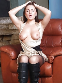Sexy stockings accompany these horny brunettes sexy..