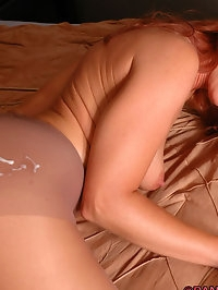 Baby rips her pantyhose during hard sex