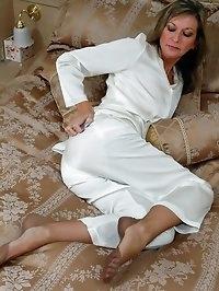sleeping beauty in silk and nylon