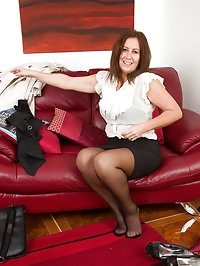 47 year old Carol Foxwell returns from work in time to get..