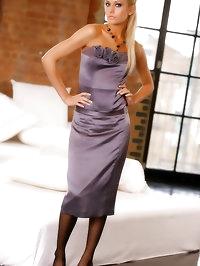 Prestige at OnlyTease as Natasha Marley slips out of her..