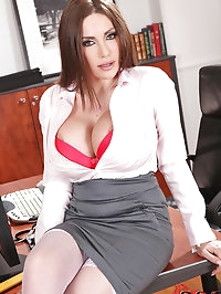 Hot anal action in the office!