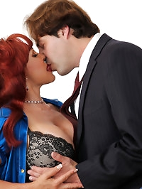 Check out this Anilos redhead as she gets banged by her..