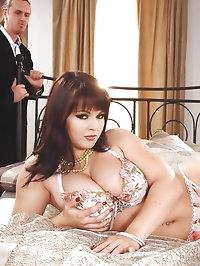 Curvy babe Klenot enjoys a big cock