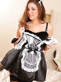 Beautiful Ava in maids outfit