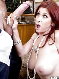 Tiffany Mynx Pictures in Pearl Necklace