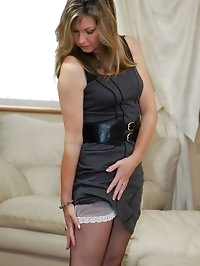 heels, sheer slip and nylons