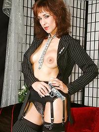 Beautiful black stockings queen with huge titties