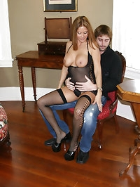 HotWifeRio plays with a young studs cock while wearing..