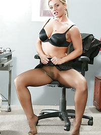 Rita Faltoyano in Pantyhose at the Office