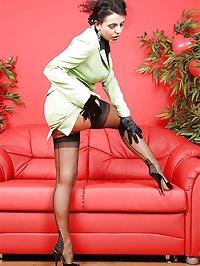 Brunette wears a nice jacket