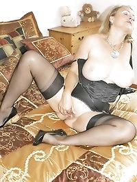 Pale-skinned beauty wears lingerie