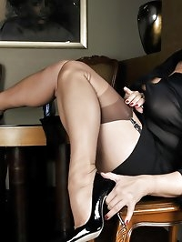 Broad loves black lingerie