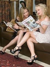 nylon lesbos enjoy some toying