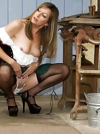milk maid gets playful