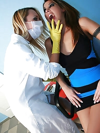 Female dentist seduces sexy patient