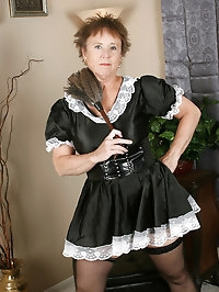 64 year old maid gets distracted and starts playing with..