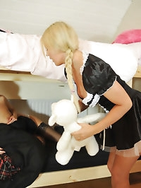 Lesbian babes Naomi Raine and Maid Chloe pictures