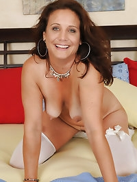43 year old Chane looking super sexy in her lace and white..
